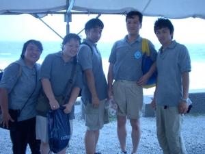 左から浮須先生、伊藤先生、北條先生、原田先生、尾口先生